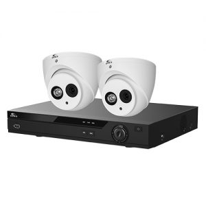 Eagle AHD CCTV Kit - 4 Channel 1TB Recorder with 2x 8MP Fixed Turret Cameras (White)